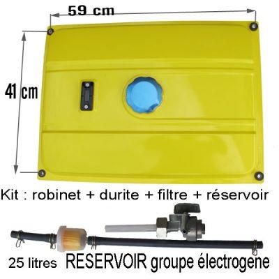 Reservoir Groupe electrogene  durite robinet bouchon Jauge actuelement en NOIR